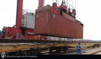 صادرات و واردات ۴.۵ میلیون تن کالا با خطوط ریلی بندر شهید رجایی